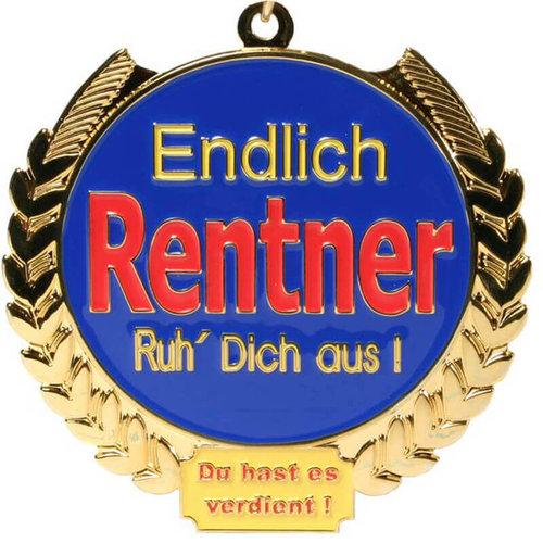 Medaille Rentner