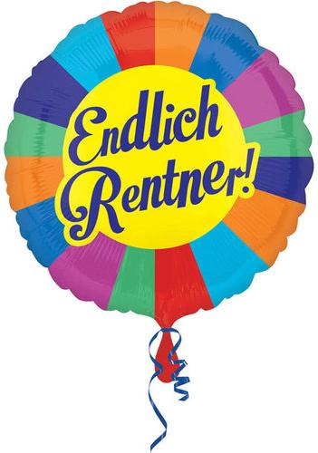 Endlich Rentner bunter Folienballon