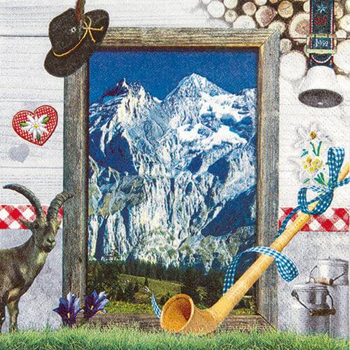 Servietten bayerische Alpen