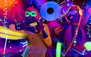 Neonparty an Silvester