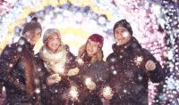 Winterparty mit Freunden