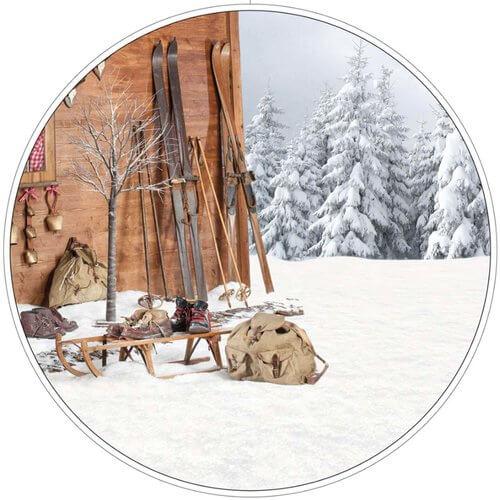 Skihütte Deko