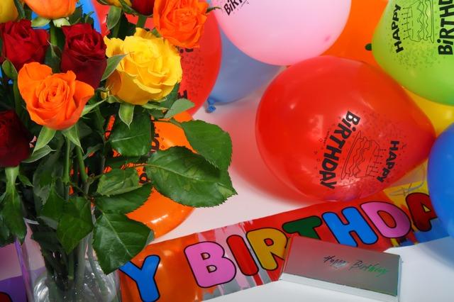 bunter Geburtstag