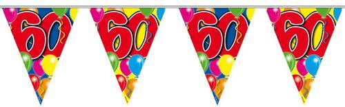 60. Geburtstag Wimpelkette mit Ballons