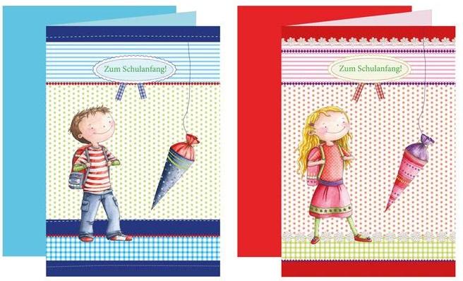 Einladungskarten Junge und Mädchen