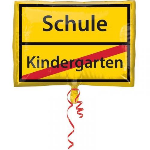 Folienballon Schule Schild