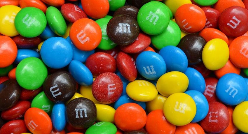 Süßigkeiten M&Ms