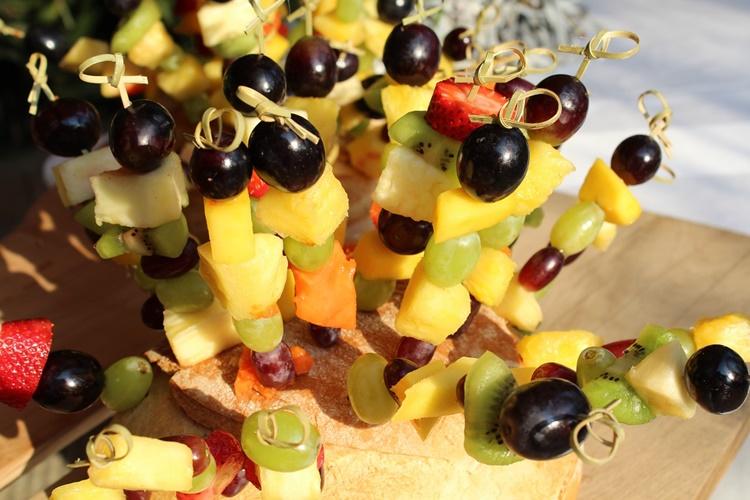 Fruchtspieße unterwegs