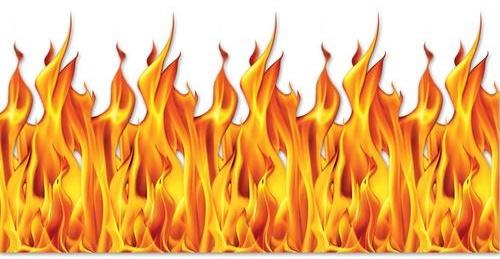 Wand-Dekoration Feuer Flammen
