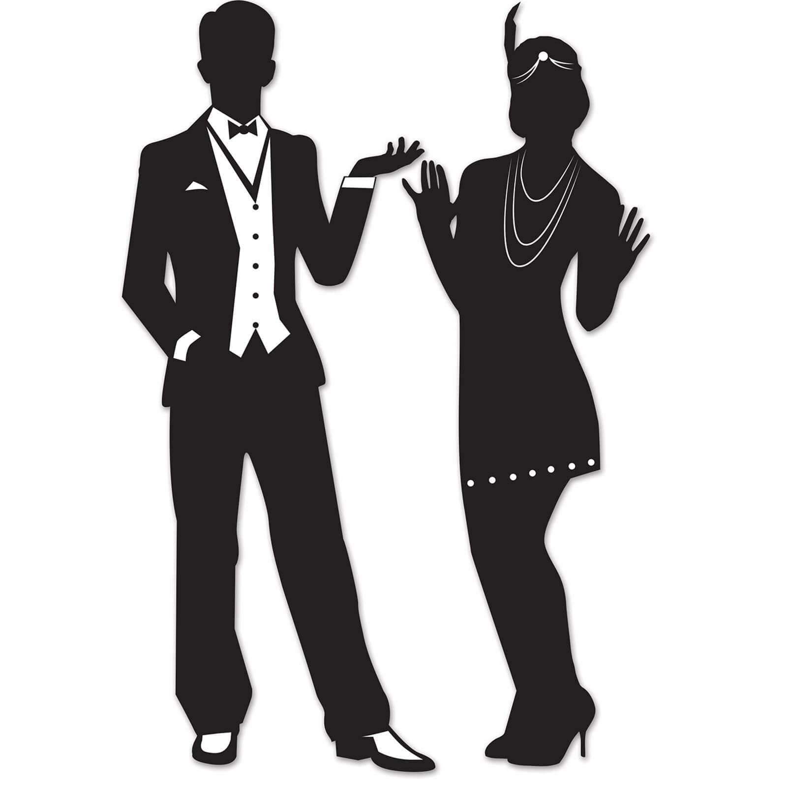 20er jahre silhouetten deko partydeko partyartikel f r mottopartys im shop kaufen. Black Bedroom Furniture Sets. Home Design Ideas