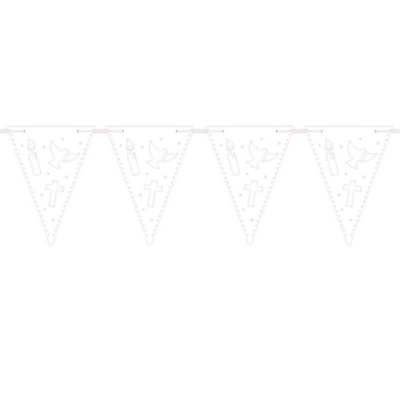 6 m Wimpelkette Kommunion Konfirmation