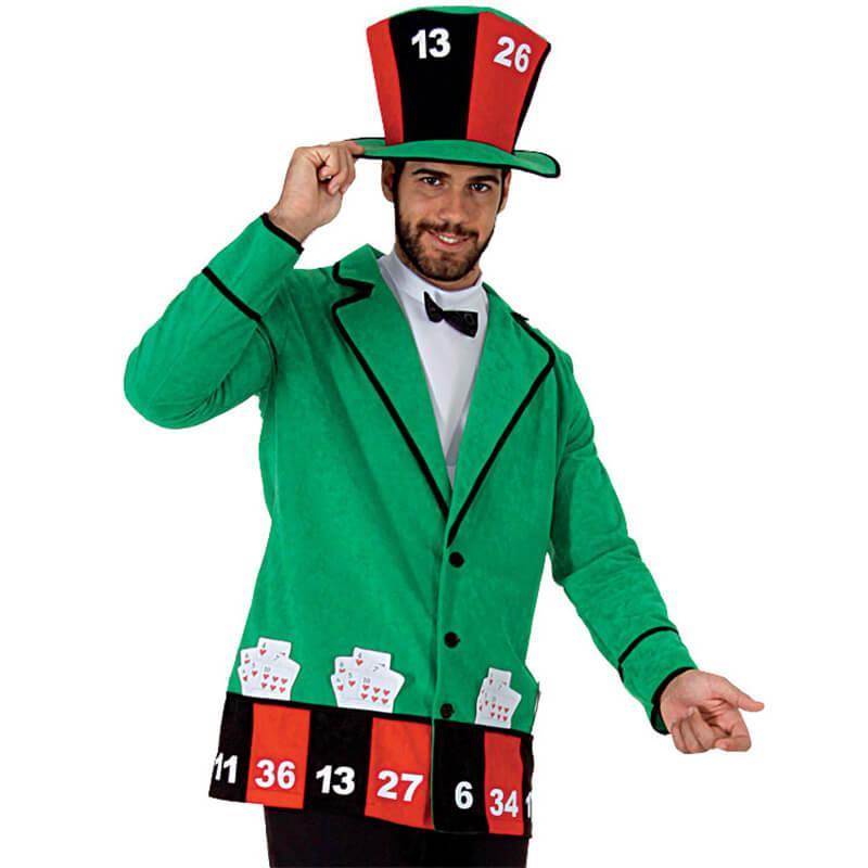 Casino Kostum Jacke Hut Herren Grosse Xxl Casinoparty Partydeko