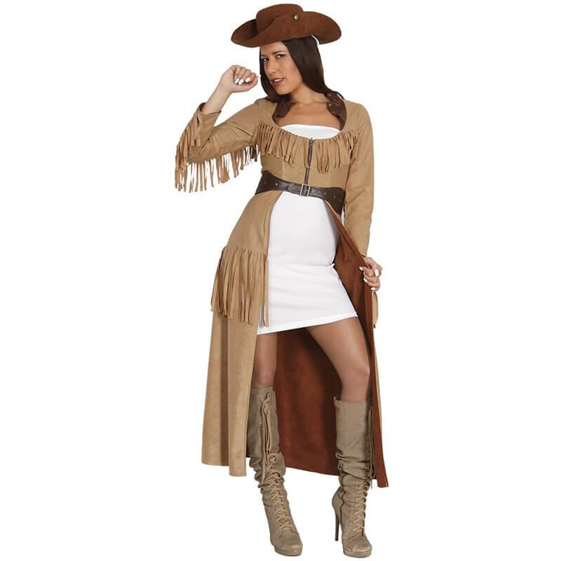 Wild West Party Western Kostum Damen Grosse M 40 42 Partydeko