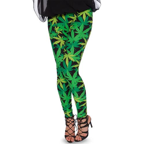 Leggings Cannabis Hanfblätter