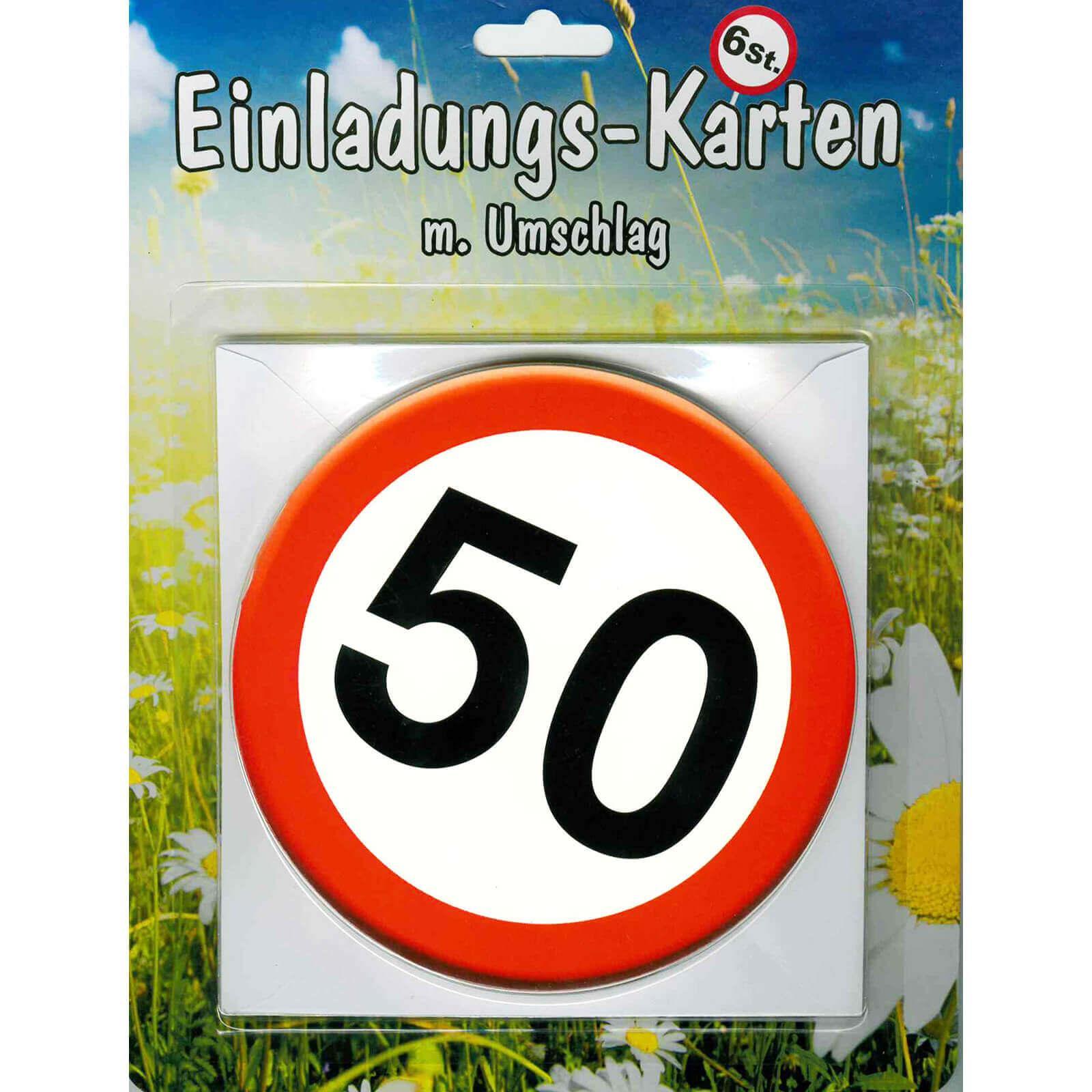 einladungskarten 50. geburtstag - einladungen zur party