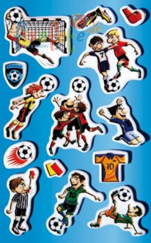 Puffy-Sticker - Fussball mit Tor