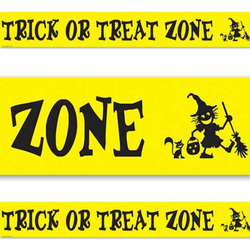 Absperrband - Halloween - trick or treat zone