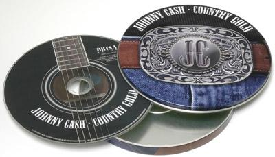 Johnny Cash Country Musik CD in Blechdose