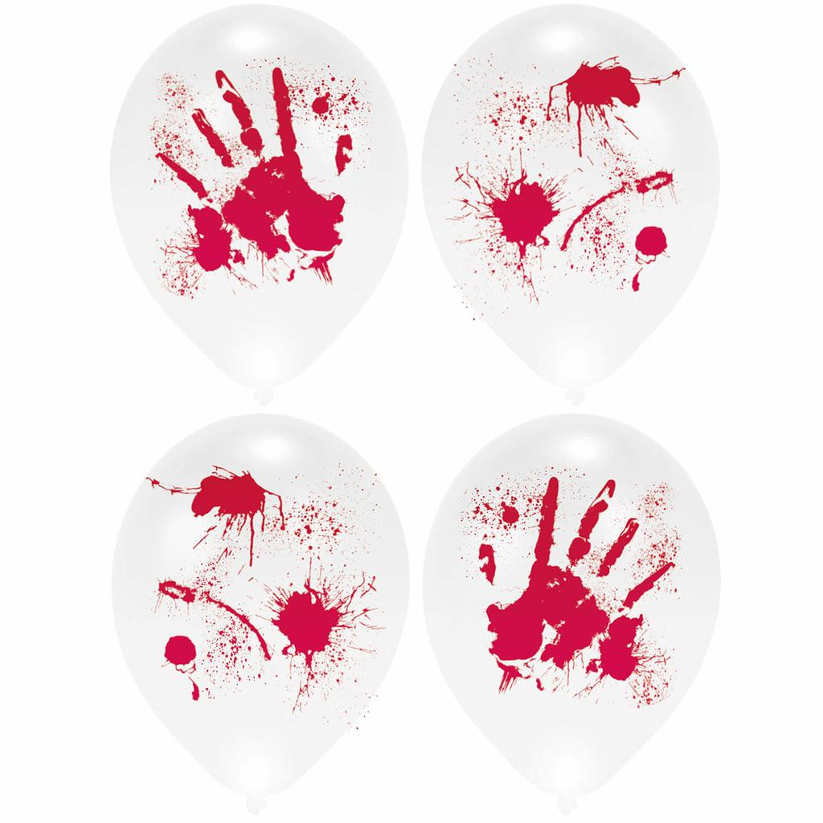 6 Halloween Deko Luftballons mit Blutflecken Halloweendeko Horror Dekoration