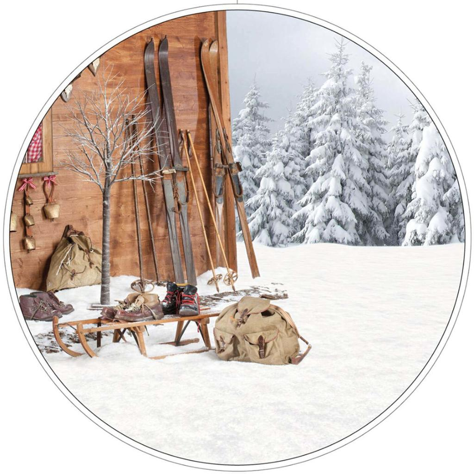 Skihutte Deko Raumdeko Fur Winterfans Partydeko Partyartikel Fur Mottopartys Im Fixefete De Shop Kaufen