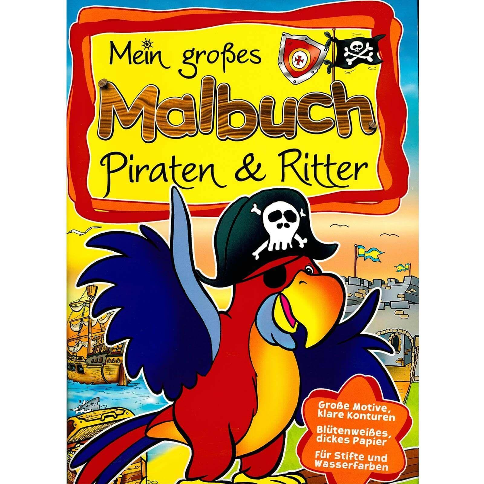 mein großes malbuch  piraten  ritter  partydeko