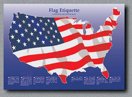 Platz-Set - Flagge - USA
