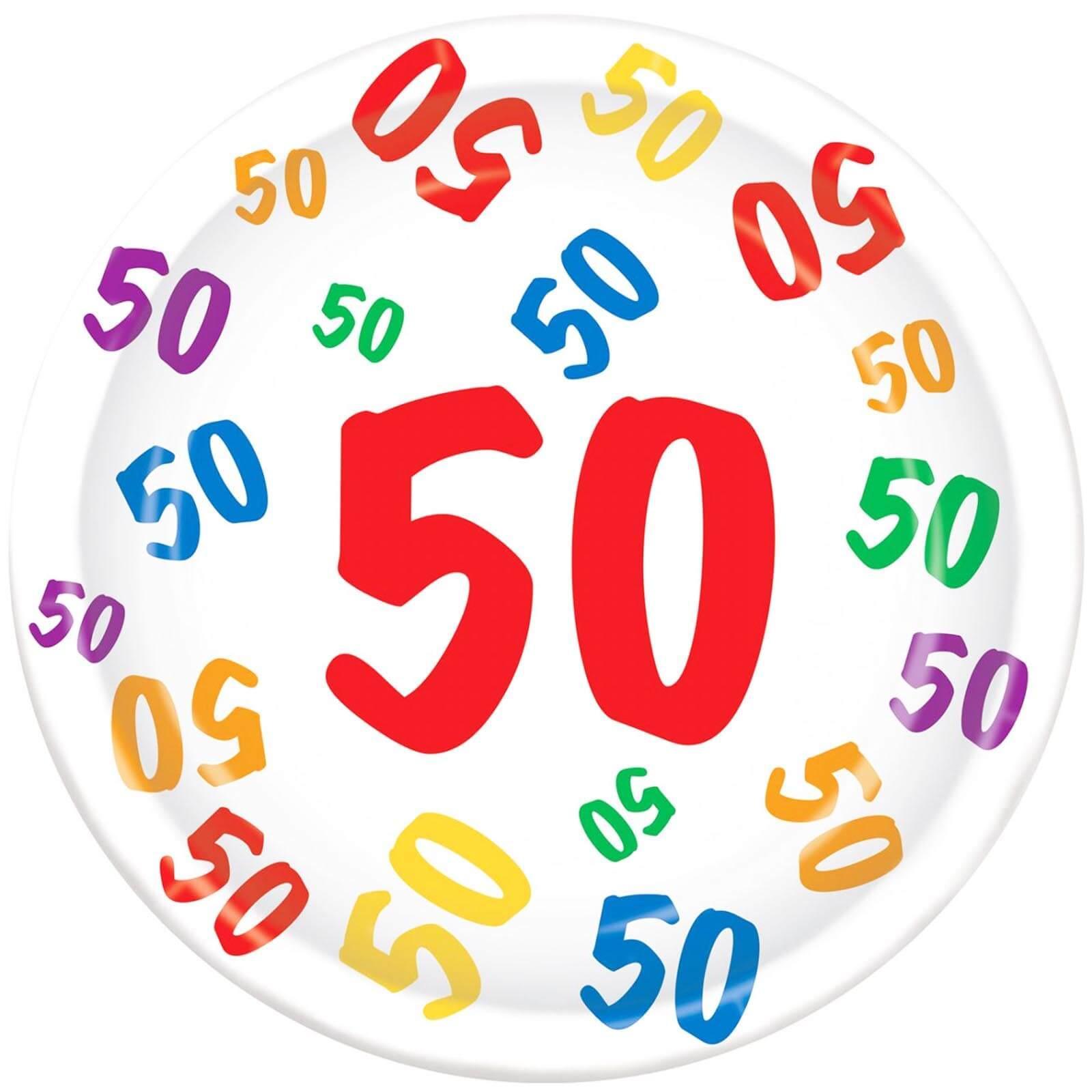 Teller 50 Geburtstag Party Partydeko Partyartikel Für Mottop