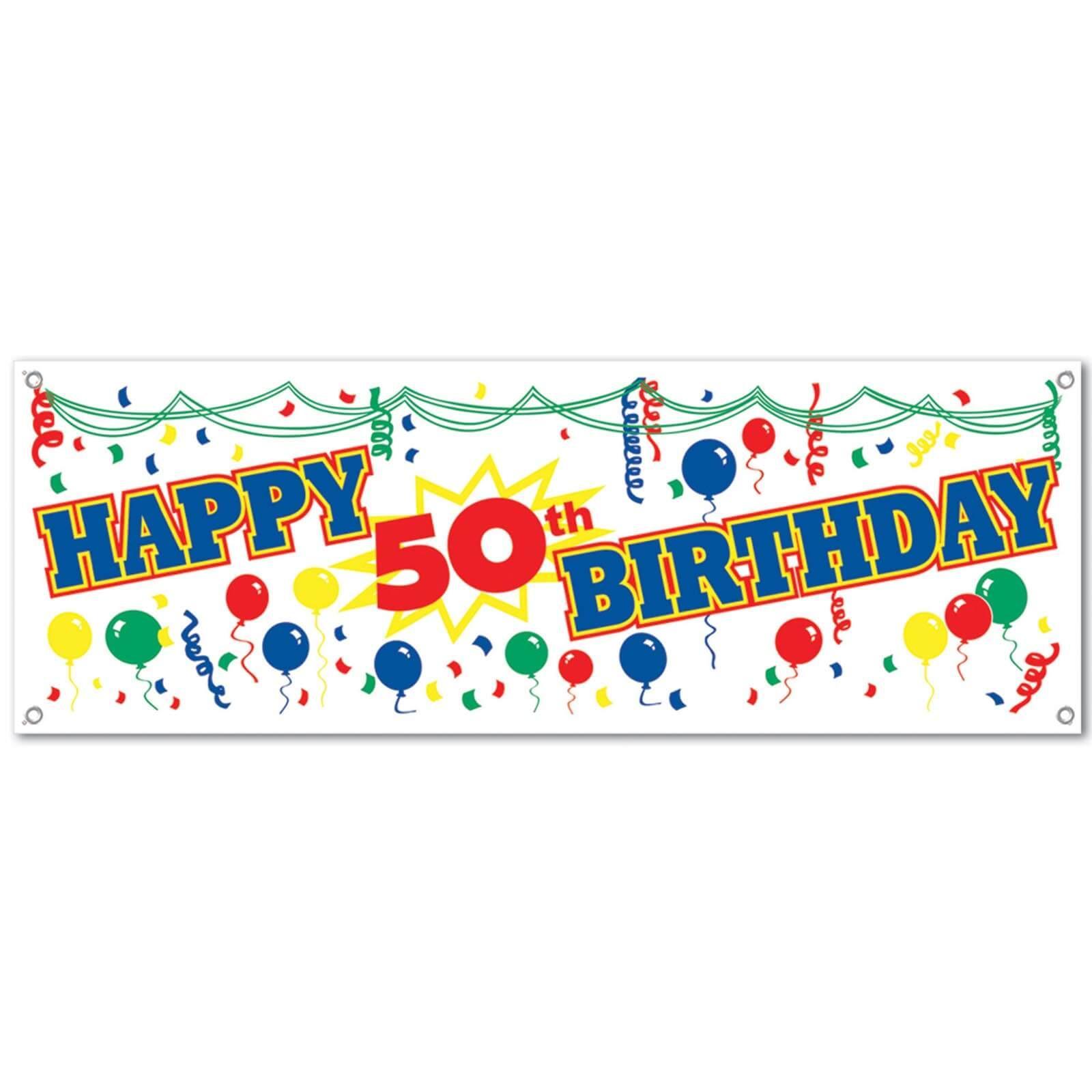 50 Geburtstag Deko Banner Partydeko Partyartikel Fur Mottopart