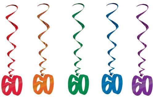 Spiralen Hange Deko 60 Geburtstag Partydeko Partyartikel