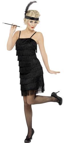 20er Jahre Kleid Outfit Schwarz Größe S Partydeko Partyarti