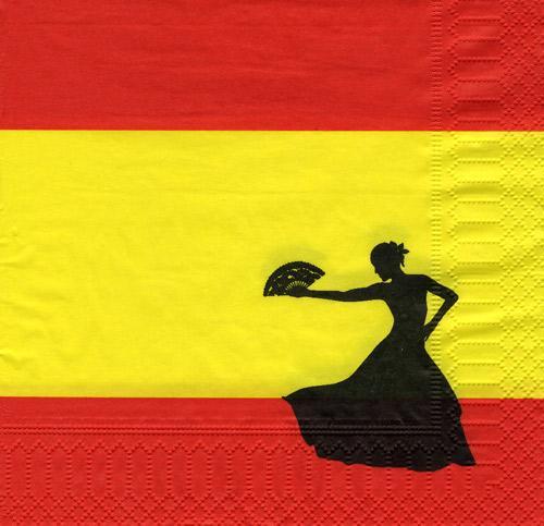 servietten spanien spanische nacht partydeko. Black Bedroom Furniture Sets. Home Design Ideas