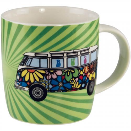 VW Bus T1 Flower Power Tasse