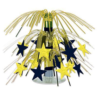 Tischdeko Kaskade Sterne Schwarz Gold Partydeko Partyartike