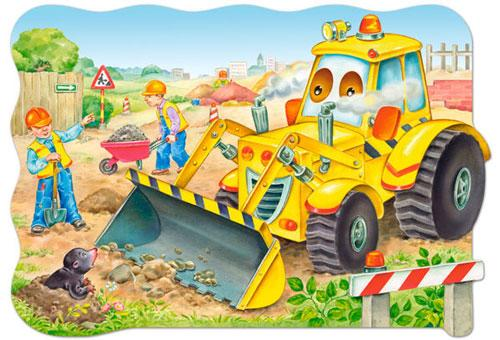 Bulldozer in Aktion - Puzzle - Castorland