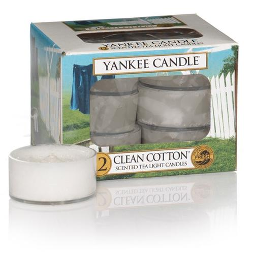Yankee Candle Teelichter Clean Cotton - 12er Pack