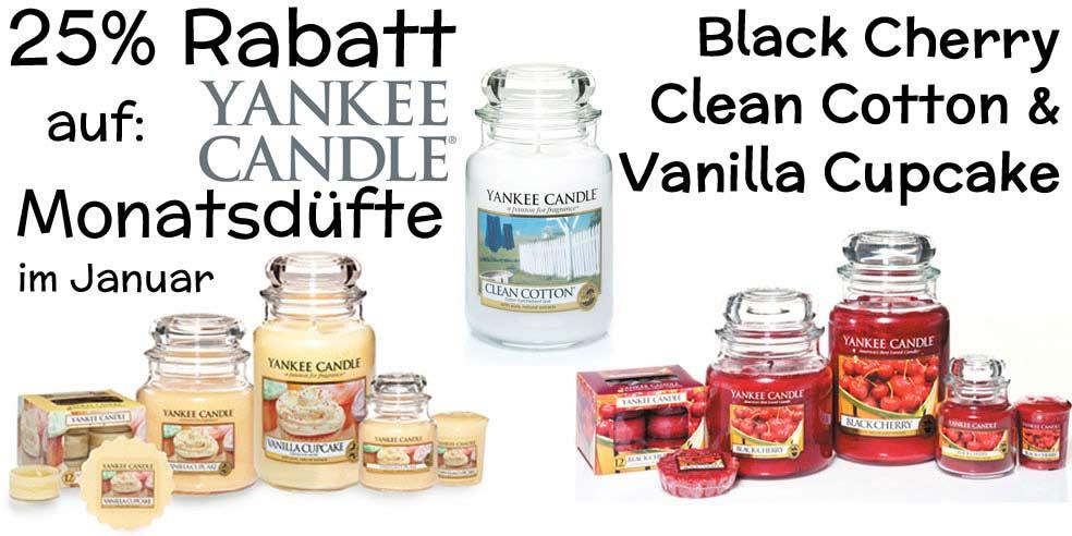Yankee Candle Monatsduft Aktion
